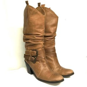 Fab Matisse leather scrunch half cowgirl boot